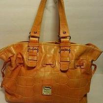 Dooney and Bourke Mock  Croc Bag in Orange Photo