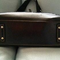 Dooney and Bourke Navy Blue Medium Croc Shoulder Handbag With Wallet Photo