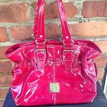Dooney and Bourke Patent Leather Medium Chiara Bag Fushia Pink Cute Photo