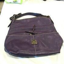 Dooney and Bourke Purple Leather Purse Bag Pocketbook Handbag Hobo Photo