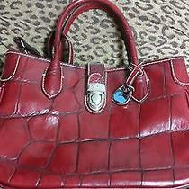 Dooney and Bourke Rare Red Croc Tote With Shoulder Strap Photo