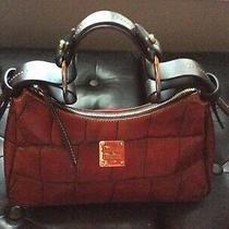Dooney and Bourke Red Croc Embossed Handbag Photo