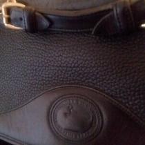 Dooney and Bourke Vintage Carrier Black Leather Handbag Purse Shoulder Bag Photo