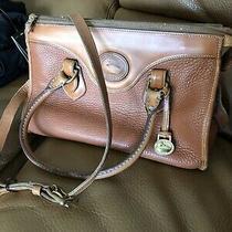 Dooney and Bourke Vintage Doctor Bag Satchel Handbag Shoulder Strap Purse Camel Photo