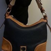 Dooney and Bourke Wexford Leather Hobo Bag Midnight Blue Photo