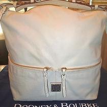 Dooney and Bourke White Tote Shopper Davis Tassel Leather Handbag Photo