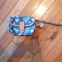 Dooney and Bourke Wristlet Hearts With Pink Hangtag and Wrist Strap Black Photo