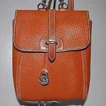 Dooney & Bourke All Weather Leather Tan Small Backpack Handbag Photo