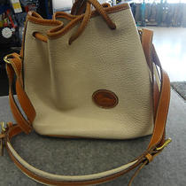 Dooney & Bourke All Weather Leather Tan W/ Brown Trim Photo