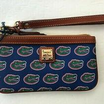 Dooney & Bourke Authentic Clutch Wristlet Wallet Green Crocodile Blue  Photo