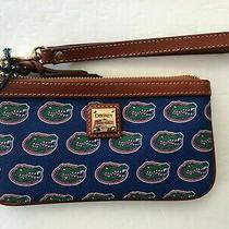 Dooney & Bourke Authentic Clutch Wristlet Wallet Green Crocodile Blue  Photo