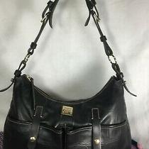 Dooney & Bourke Authentic  Shoulder Bag Handbag Purse Carry Bag Black Leather Photo
