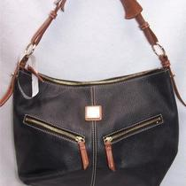 Dooney & Bourke Black All Weather Leather Hobo Handbag A85640 487 Photo