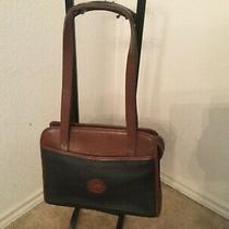 Dooney & Bourke Black & Brown Leather Vintage Zip  Shoulder Purse Double Strap Photo