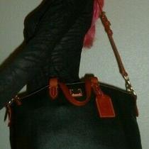 Dooney & Bourke Black Leather Over Night Bag Satchel Shoulder Bag Tote Purse   Photo