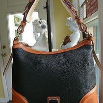 Dooney & Bourke Black Pebble Leather Hobo & Keychain Photo