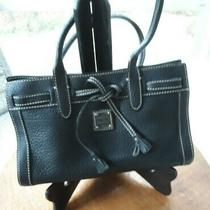 Dooney & Bourke Black Pebbled Leather Hand/shoulder Bag Excellent Condition Photo