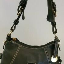 Dooney & Bourke Black Pebbled Leather Hobo Shoulder Satchel Handbag Purse Photo