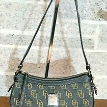 Dooney & Bourke Black Signature Hobo Small Shoulder Bag Handbag Purse Satchel Photo