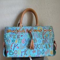 Dooney & Bourke Blue Fantasy Novelty Tassel Tote Handbag.  Photo