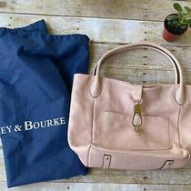 Dooney & Bourke Blush Logo Lock Leather Shoulder Bag Purse Tote Photo