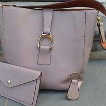 Dooney & Bourke Blush Pink Medium Saffiano Leather Tote Bucket Wristlet Keychain Photo