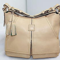 Dooney & Bourke Bone Florentine Leather Kingston Hobo Photo