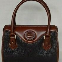 Dooney & Bourke Brown / Black  Pebbled Leather Small Bag Handbag Purse Photo