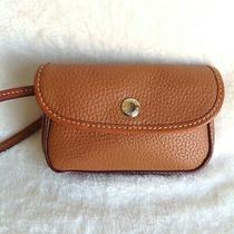 Dooney & Bourke Brown & Brown Pebbled Awl Leather Wallet Wristlet Mint Photo