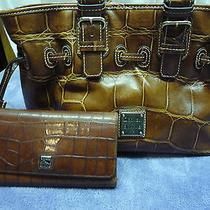 Dooney & Bourke Brown Croc. Leather Purse & Wallet Photo