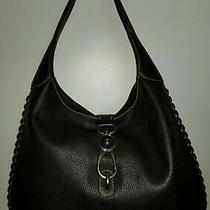 Dooney & Bourke Brown Grain Leather Hobo in Good Pre-Owned Condition Photo