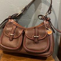 Dooney & Bourke Brown Leather Banana Shoulder Bag. Photo