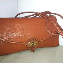 Dooney & Bourke Brown Leather Womens Shoulder Cross Body Bag Purse Sr -B5 Photo