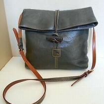 Dooney & Bourke Brownish Blue Leather Handbag Women's Shoulder Crossbody Purse Photo