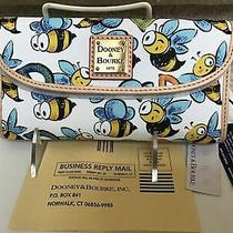 Dooney & Bourke Bumble Bee Continental Clutch Wallet in White Photo