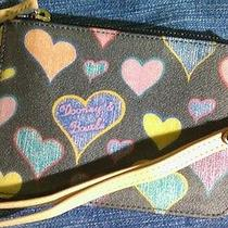 Dooney & Bourke Charcoal With Colored Hearts Wristlet Photo
