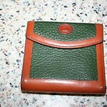 Dooney & Bourke  Clutch Wallet Dark green&british Tan All Weather Leather 95 Photo