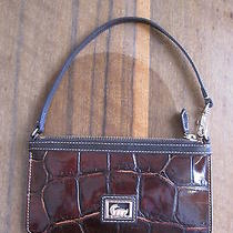 Dooney Bourke Cognac Croco Large Slim Wristlet  Photo