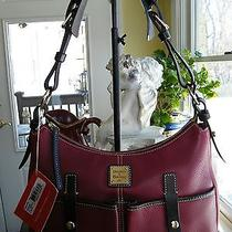Dooney & Bourke Cranberry/red Small Safari Hobo Photo