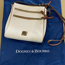 Dooney & Bourke Crossbody Leather Handbag Triple Zip Blush Color New Photo