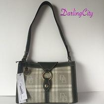 Dooney & Bourke & Db Signature Quilt Alto Ring Flap Canvas & Leather Nwt 198 Photo