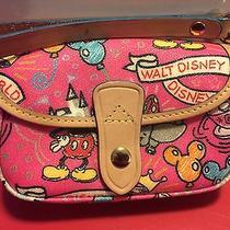 Dooney & Bourke Disney Sketch W/wristlet Mickey Pink Purse - Nwot Photo