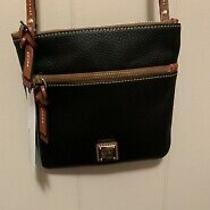 Dooney & Bourke Double Zip Crossbody Bag New With Tags Black Leather Photo