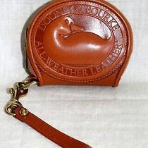 Dooney & Bourke Duck Vintage Brown Leather Zip Around Coin Wallet Made in Usa Photo