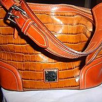 Dooney & Bourke Embossed Croc Leather Satchel Handbag Photo