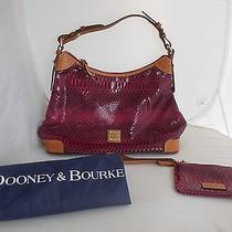 Dooney & Bourke Erica 138800506 Raspberry Leather Hobo Shoulder Bag & Wristlet Photo