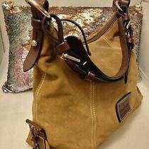 Dooney & Bourkefalldealscamel Suede/dark Brew Leather Strap & Trim Bag Large Photo