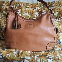 Dooney & Bourke Florentine Leather Side Pocket Hobo Natural Color Photo