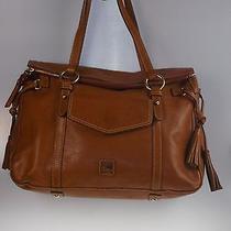 Dooney & Bourke Florentine Leather Smith Bag Natural J3551283 Nwot Marks Photo
