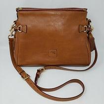Dooney & Bourke Florentine Leather Tan Hobo Shoulder Handbag Tassel Satchel  Photo